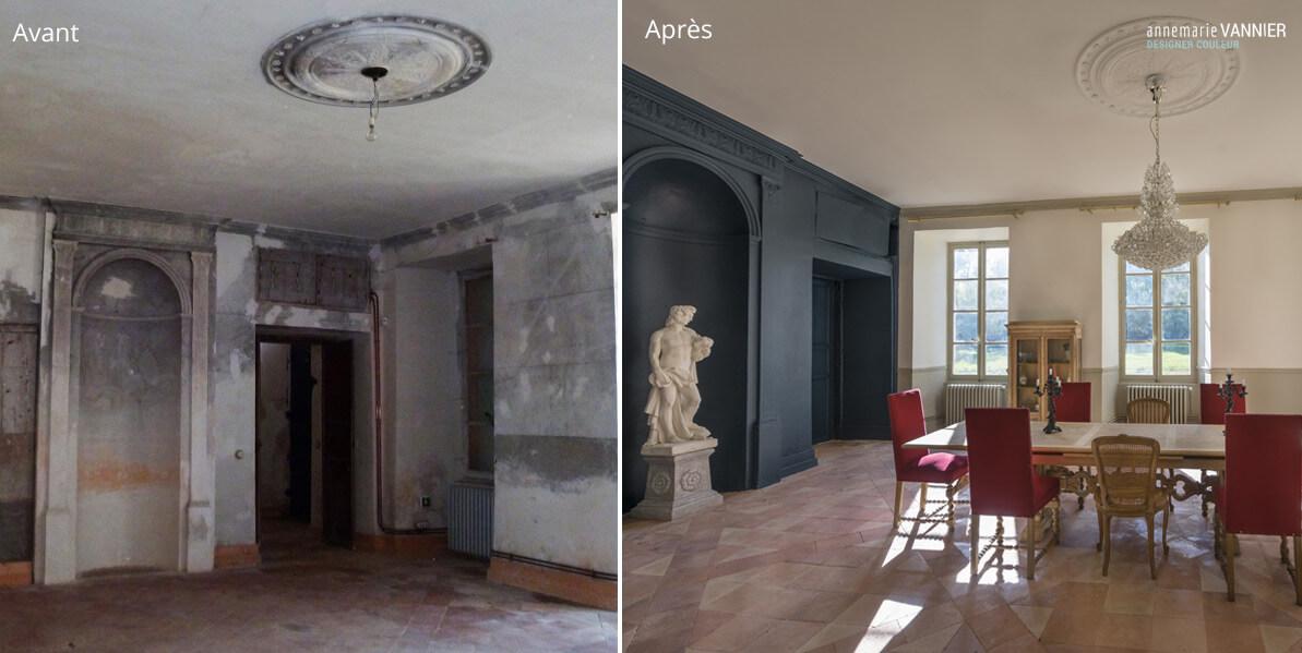 Avant / Après Chateau - Salle à manger