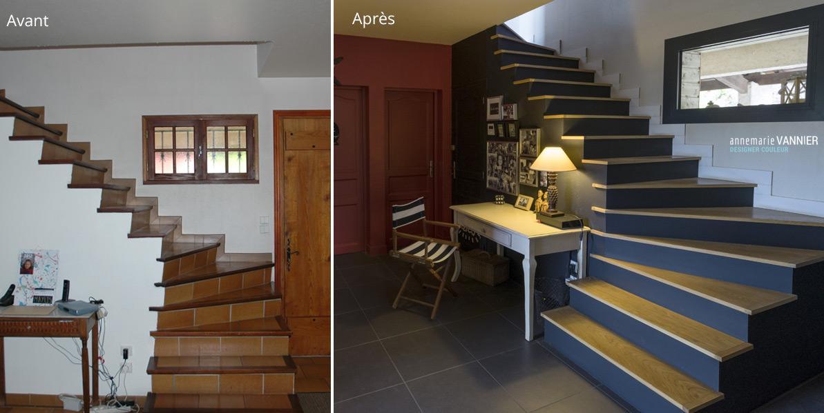 Avant / Après Escalier maison 80